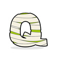 Letter Q Monster zombie Alphabetical icon medical vector image