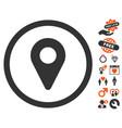 Map marker icon with valentine bonus vector image