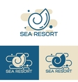 sea shell logo set vector image