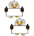 Bald Eagle Character 2 vector image