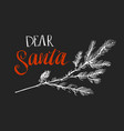 letter merry christmas of santa claus vector image
