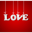 love inscription for Valentines day vector image vector image