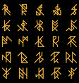 Set of abstract ancient runes vector image