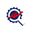 business process gear and creative business vector image