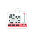 paper sticker on white background Wi-Fi router vector image