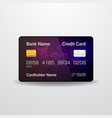 detailed realistic credit card vector image