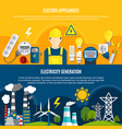 electric appliances and power generation banners vector image