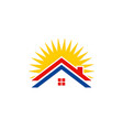 roof house solar energy logo vector image