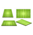soccer green field for game collection vector image