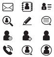 social Netwok User silhouette icons Symbol vector image