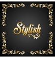 Stylish design Decorated icon gold vector image