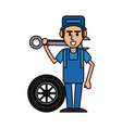 worker car workshop icon image vector image