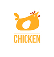 signs and symbols chicken vector image
