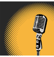 Retro Microphone Spotlight 2 vector image
