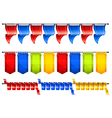 celebration flags vector image vector image