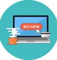 Online shopping e-commerce concept Flat design vector image