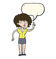 cartoon woman with question with speech bubble vector image