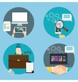computer technology icon business set contract vector image