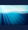 background scene with blue waves vector image