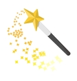Magic wand cartoon icon vector image