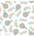 seamless pattern with ar balloon and bouquet vector image