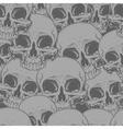Seamless horror grey skull tattoo pattern vector image