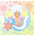 Spa floral background vector image