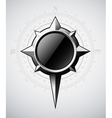 Steel compass rose with scale vector image vector image