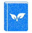 flora book icon grunge watermark vector image