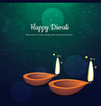 beautiful diwali festival diya background with vector image