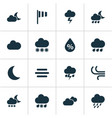 weather icons set collection of night flash vector image