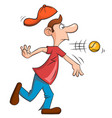 man with a big nose playing baseball vector image