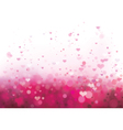 pink heart background vector image vector image