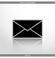 mail web flat icon vector image