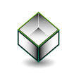 Hollow cube- an enclosed space with open top vector image