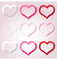 white red and pink valentine hearths border vector image