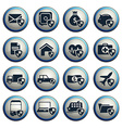 Insurance simply icons vector image