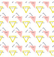 abstract simple geometric signs yellow vector image