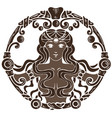 coffee antique vignette with beautiful woman vector image