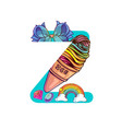 cute magic letter z vector image