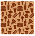 fastfood pattern brown vector image