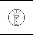 flashlight line icon mobile sign graphics vector image