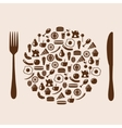 icon plate vector image
