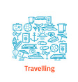 poster for travel and summer vacation vector image