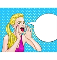 Screaming Woman Pop Art Design vector image