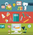 Set of flat design concepts for website layout vector image