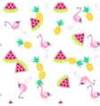 Tropic summer seamless white pattern vector image