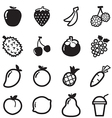 Fruit icons symbol vector image