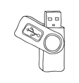 usb drive icon image vector image