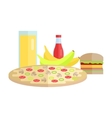 Food Concept in Flat Style Design vector image